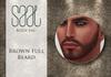 Brown full beard