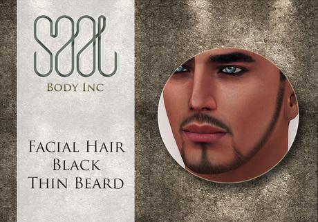 .::SAAL::. FACIAL HAIR BLACK THIN BEARD