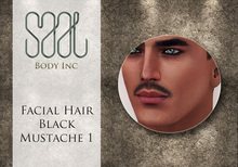 .::SAAL::. FACIAL HAIR BLACK MUSTACHE 1