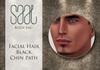 Facial hair black chin path
