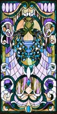 Steampunk Royal Peacocks Stained Glass