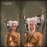 Faun Hair *BLACK & WHITES* - OakLeaf Hair - mesh