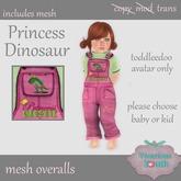 Vicarious Youth - TD Overalls - Princess Dinosaur (B)