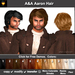 A&A Aaron Hair 11 Colors Variety Pack. Mens Hair for Rockstars and Kings