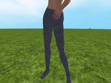 Grey knit tights