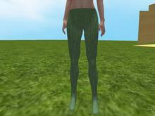 Green knit tights