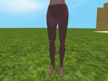 Beige knit tights