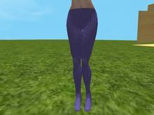 Purple knit tights