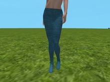 Blue/green knit tights