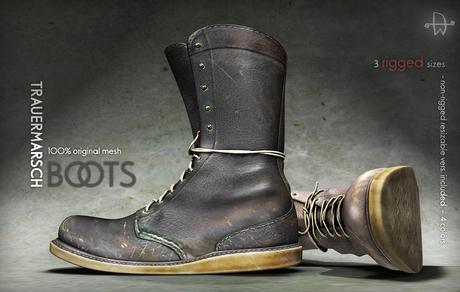[Deadwool] Trauermarsch Boots - (black)