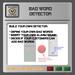 EMU Scriptset for builder - Create your own Bad word detector