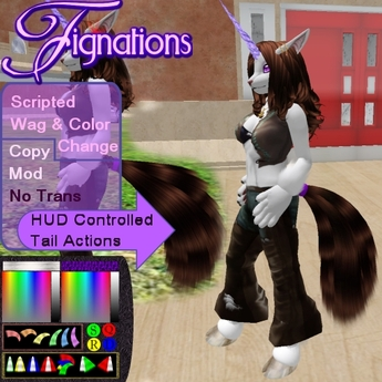*Fig* Horse Tail 1A Naturals 01 Scripted w/Texture/Color Change & Action HUD