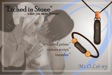 "Ms.O.Lei-ny™ ""Etched in Stone"" (Spanish/Español ""te quiero"") male set"