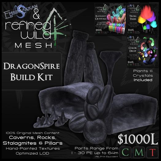 - DragonSpire Build Kit - A MESH Kit by Khyle Sion & Emsdrakkan