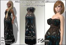 Maternity-dress mesh Brown  from <<Yanka>>