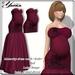 Maternity Dress Mesh <Lola> Lolas Tango RED