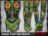 =RueMorgue= Mesh Zombie Thigh High Boots