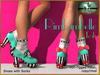 Bliensen + MaiTai - Rimbambelle - Shoes with socks - Teal