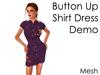 Delia's Purple Demo Shirt dress