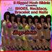 Iffyta Mesh Bikini Dags Solids w/Matching SHOES ACCESSORIES