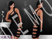 .:voxxi:. DEMO [Brooks] One Shoulder Cutout Dress Black Leather