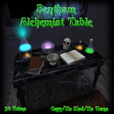 Bentham alchemist table (boxed)