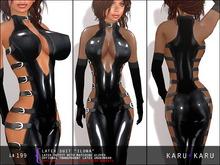 KARU KARU - Latex Suit Ilona (BLACK)