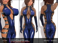 KARU KARU - Latex Suit Ilona (BLUE)