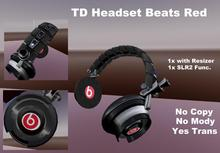 BOX Headset Beats red Pack