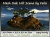 Mesh Oak Hill Scene by Felix 20 Prim=25x25m Size copy/mody