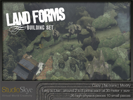 Land Forms Building Set One - 100% MESH