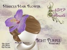 NSP Hibiscus Hair Flower Light Purple