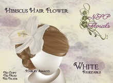 NSP Hibiscus Hair Flower White boxed