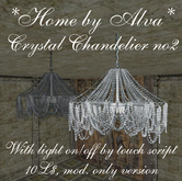 *HOME by Alva* Crystal chandelier no2, with light script, -50%