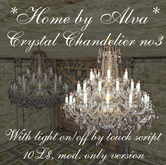 *HOME by Alva* Crystal chandelier no3, with light script, -50%