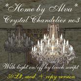 *HOME by Alva* Crystal chandelier no3, MOD. + COPY version, with light script, -50%