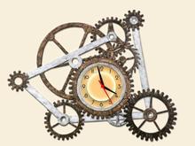 Working Gear Clock (Steam Punk)   CUTOUT