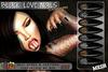 [ S H O C K ] Black Love Nails - Almond Series