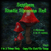 Bentham Rustic Shrooms Red (boxed)