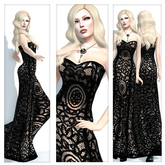 {Indyra Classics} Mesh: Minuet Vintage Formal Gown *Special Price*
