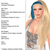 lollipopz unforgiven- all colors and hair bases