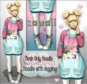 NS::  Kawaii  Hoddie  and leggins (mesh)
