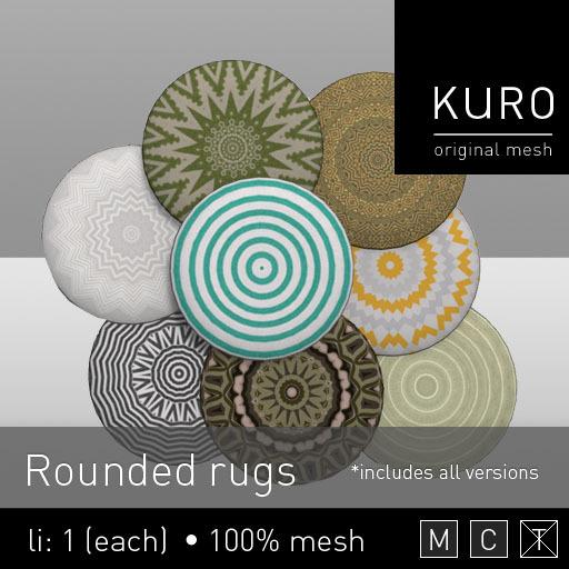 Kuro - Rounded rugs