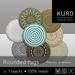 Kuro   rounded rugs