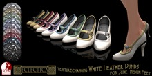Eclectica White Leather Pumps