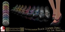 Eclectica Black Leather Pumps