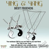 YING & YANG Best Friends - Necklaces