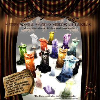 ) AI ( - Rustic Illuminati Candles Collection (copyable/color-changing/30 candles in 1!) (WAS $280 -> NOW ONLY $70!)