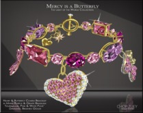 Mercy is a Butterfly Charme' Bracelet Purple by Chop Zuey Couture Jewellery