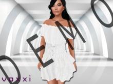 .::voxxi::. DEMO [Heidi] Off Shoulder Peasant Dress White